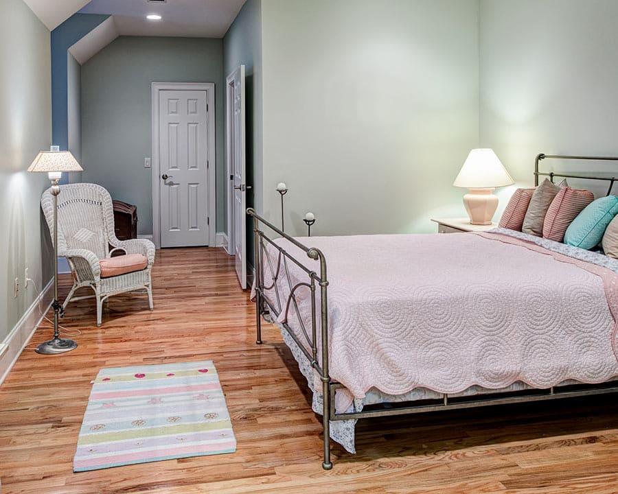 wood flooring in bedroom